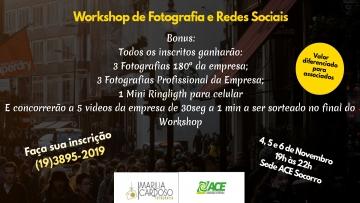 Workshop de Fotografias e Redes Sociais